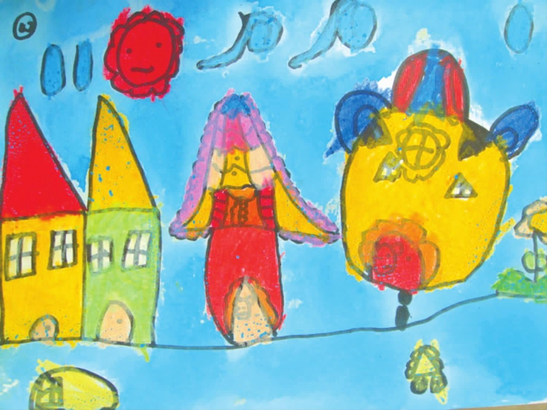 童年是缤纷城里的五彩烟花图片